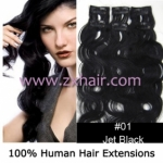 "20"" 6pcs set wave Clips-in hair Human Hair Extensions #01"
