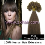 "100S 20"" Nail tip hair remy Human Hair Extensions #08"