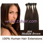 "100S 24"" Stick tip hair remy human hair extensions #04"