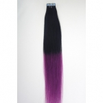 "16"" 30g Tape Human Hair Extensions #01/Purple Ombre"