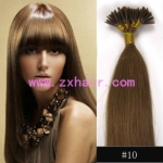 "100S 16"" Stick tip hair remy 0.4g/s human hair extensions #10"