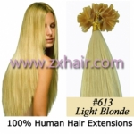 "100S 22"" Nail tip hair remy Human Hair Extensions #613"