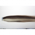 "20"" 50g Tape Human Hair Extensions #4/613 Mixed"