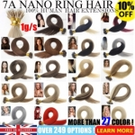 "UK Stock 28 Colors Double Drawn 100S 16""-22"" Nano hair 1g/s human hair extensions"