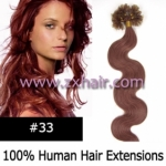 "100S 20"" Nail tip hair remy wave Human Hair Extensions #33"
