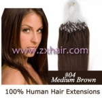 "100S 18"" Micro rings/loop hair remy human hair extensions #04"