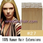 "24"" 70g Tape Human Hair Extensions #27"