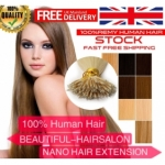 "100S 16""-22"" Nano hair 1g/s human hair extensions 28 Colors Double Drawn"