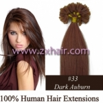 "100S 16"" Nail tip hair remy Human Hair Extensions #33"