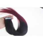 "24"" 70g Tape Human Hair Extensions #1B/BUG Ombre"