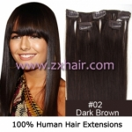 "20"" 3pcs set 36g Clip-in hair Human Hair Extensions #02"