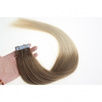 "24"" 70g Tape Human Hair Extensions #12/613 Ombre"