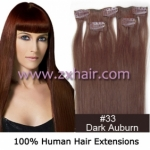 "20"" 3pcs set 36g Clip-in hair Human Hair Extensions #33"