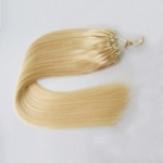 "100S 16"" Micro rings/loop hair 1g/s human hair extensions #613 Double Beads"