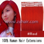 "18"" 40g Tape Human Hair Extensions #red"