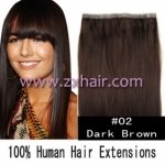 "20"" PU skin weft 55g remy human hair 36"" wide #02"