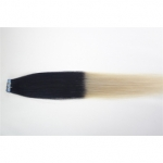 "20"" 50g Tape Human Hair Extensions #01/613 Ombre"