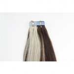 "18"" 40g Tape Human Hair Extensions #4/613 Mixed"