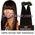 "100S 16"" Nail tip hair remy Human Hair Extensions #02"
