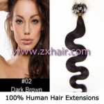 "100S 20"" remy Micro rings hair Wave human hair extensions #02"