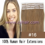 "22"" 60g Tape Human Hair Extensions #16"