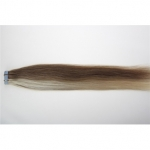 "24"" 70g Tape Human Hair Extensions #12/613 Mixed"