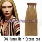 "100S 16"" Stick tip hair remy 0.4g/s human hair extensions #27"