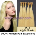 "100S 18"" Stick tip hair remy 0.5g/s human hair extensions #613"