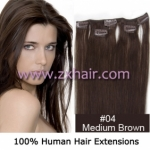 "20"" 3pcs set 36g Clip-in hair Human Hair Extensions #04"