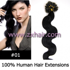 "100S 20"" Nail tip hair remy wave Human Hair Extensions #01"