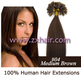 "100S 26"" Nail tip hair remy Human Hair Extensions #04"