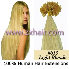 "100S 26"" Nail tip hair remy Human Hair Extensions #613"