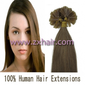 "100S 18"" Nail tip hair remy Human Hair Extensions #12"