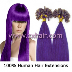 "100S 18"" Nail tip hair remy Human Hair Extensions #lila"