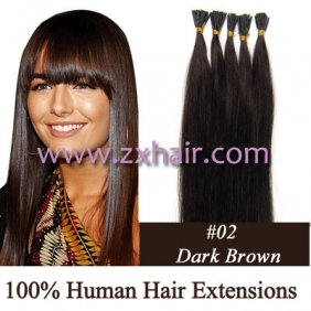 "100S 18"" Stick tip hair 0.5g/s human hair extensions #02"