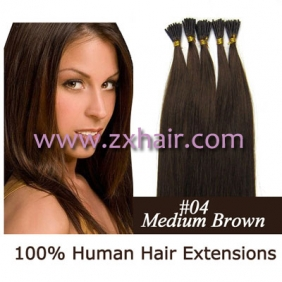 "100S 18"" Stick tip hair 0.5g/s human hair extensions #04"