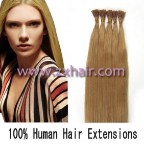 "100S 18"" Stick tip hair remy 0.5g/s human hair extensions #27"