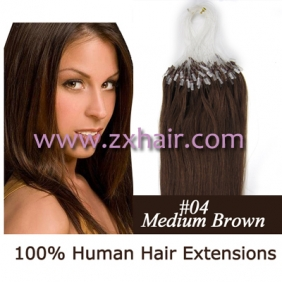 "100S 16"" Micro rings/loop hair remy human hair extensions #04"