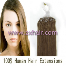 "100S 18"" Micro rings/loop hair remy human hair extensions #12"