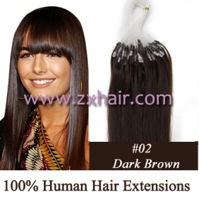 "100S 20"" Micro rings/loop hair remy human hair extensions #02"