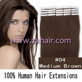 "16"" 30g Tape Human Hair Extensions #04"
