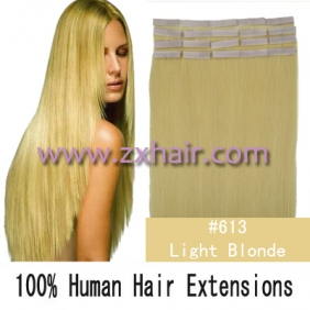 "16"" 30g Tape Human Hair Extensions #613"