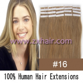 "18"" 40g Tape Human Hair Extensions #16"