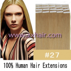 "20"" 50g Tape Human Hair Extensions #27"