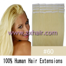 "20"" 50g Tape Human Hair Extensions #60"