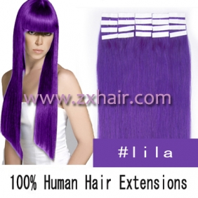 "20"" 50g Tape Human Hair Extensions #lila"