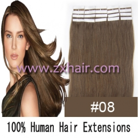"22"" 60g Tape Human Hair Extensions #08"