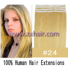 "22"" 60g Tape Human Hair Extensions #24"
