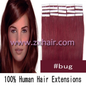"22"" 60g Tape Human Hair Extensions #bug"