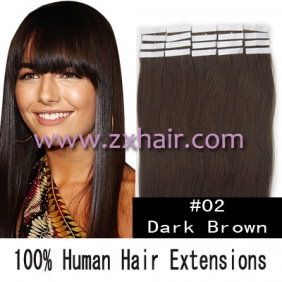 "24"" 70g Tape Human Hair Extensions #02"